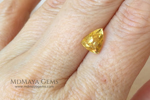 Genuine Yellow Tourmaline Trillion Cut 2.03 ct