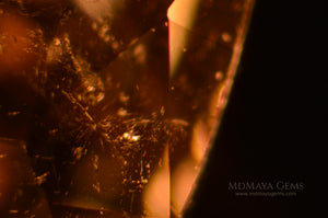 Two-phase inclusions in  Yellow Tourmaline Trillion Cut 2.03 ct