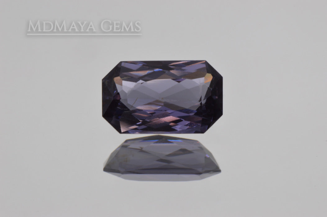 Unheated Violet Grey Spinel Gem. Octagon Cut. 1.42 ct