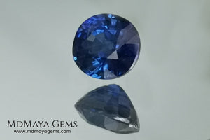 Untreated oval blue sapphire 1.01 ct. with certificate. This little more than a carat beauty is extremely beautiful. Its blue color is mesmerizing. Its origin is Sri Lanka. It will look perfect on your personalized jewelry.