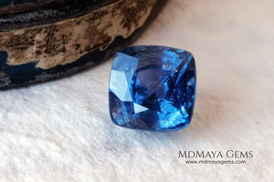 Unheated blue sapphire 5.32 ct for sale