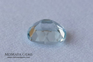 Beautiful very light aquamarine 2.79 ct cushion cut