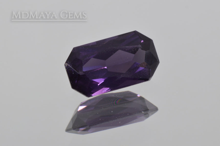 Darkish Violet Spinel Rectangle Cut 1.47 ct
