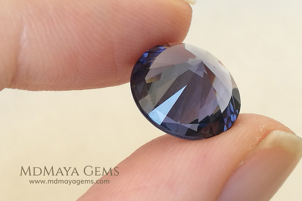 Natural Violet Spinel from Tanzania Round Cut 5.95 ct