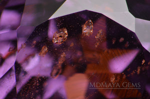 Solid Inclusions in Awesome Natural Violetish Purple Spinel Gemstone. 2.31 ct