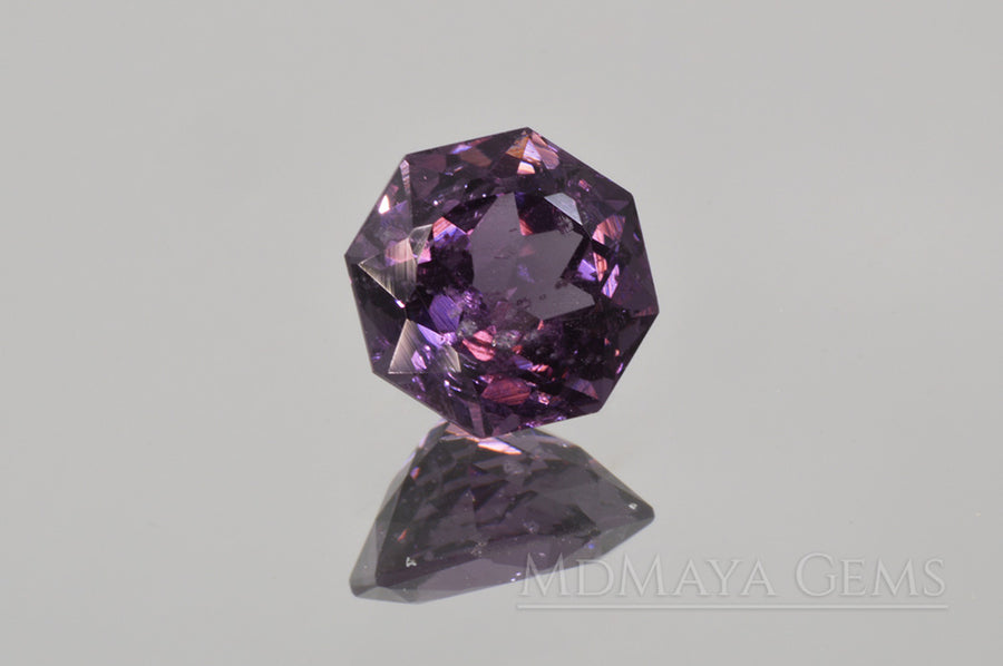 Awesome Natural Violetish Purple Spinel Gemstone. 2.31 ct