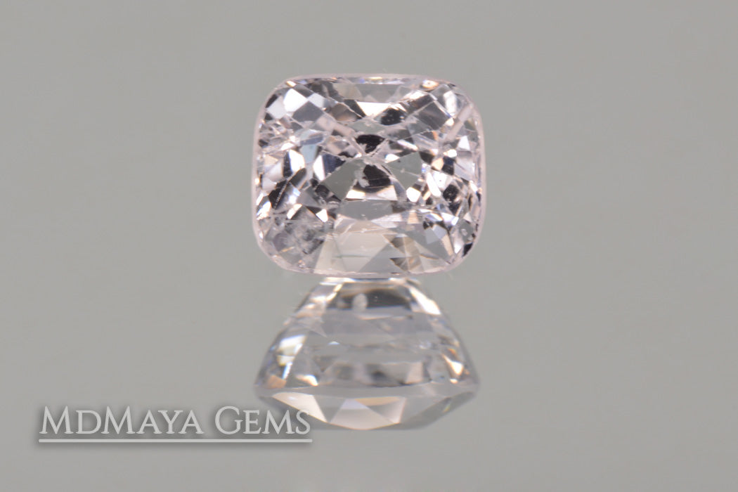 White Spinel Gemstone 1.03 ct Cushion Cut