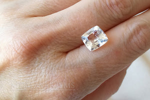 Genuine White Topaz 4.20 ct Cushion Cut. Affordable Gemstone