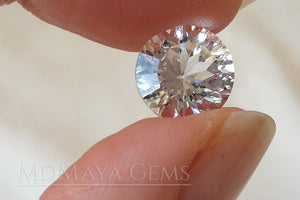 Natural and Untreated White Topaz 4.26 ct Round Cut