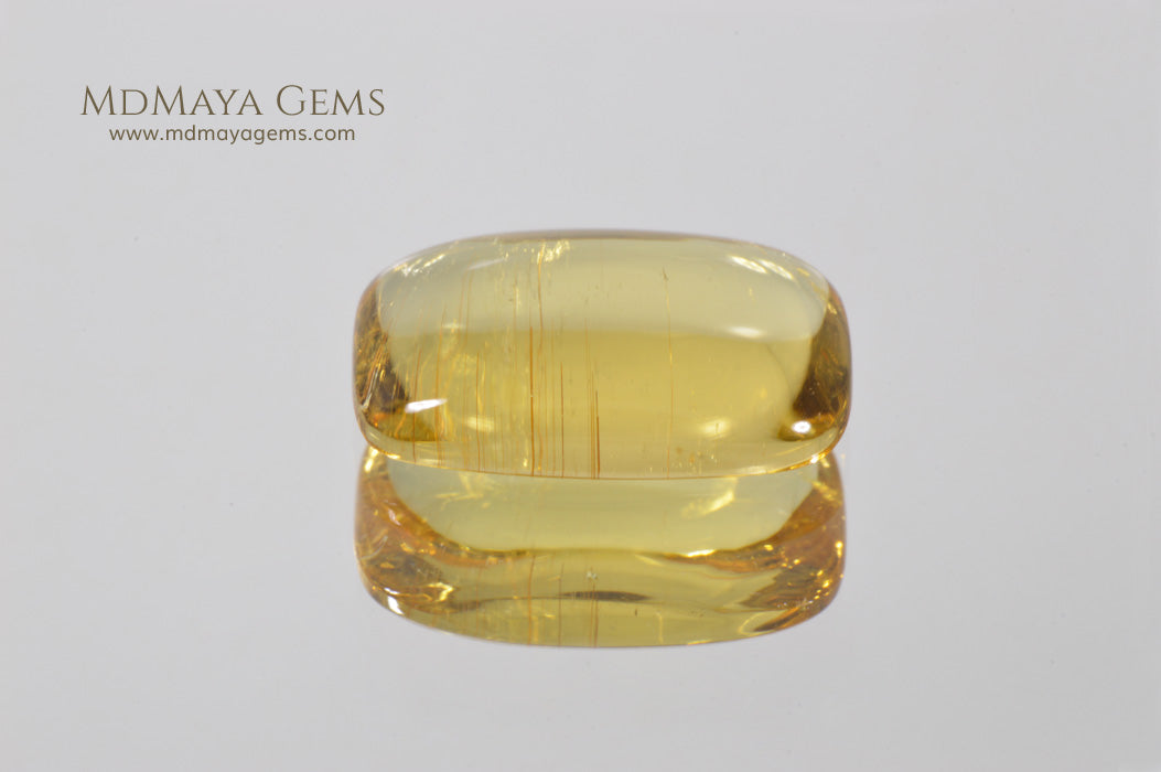 Bright Yellow Tourmaline Cabochon Cut 3.54 ct