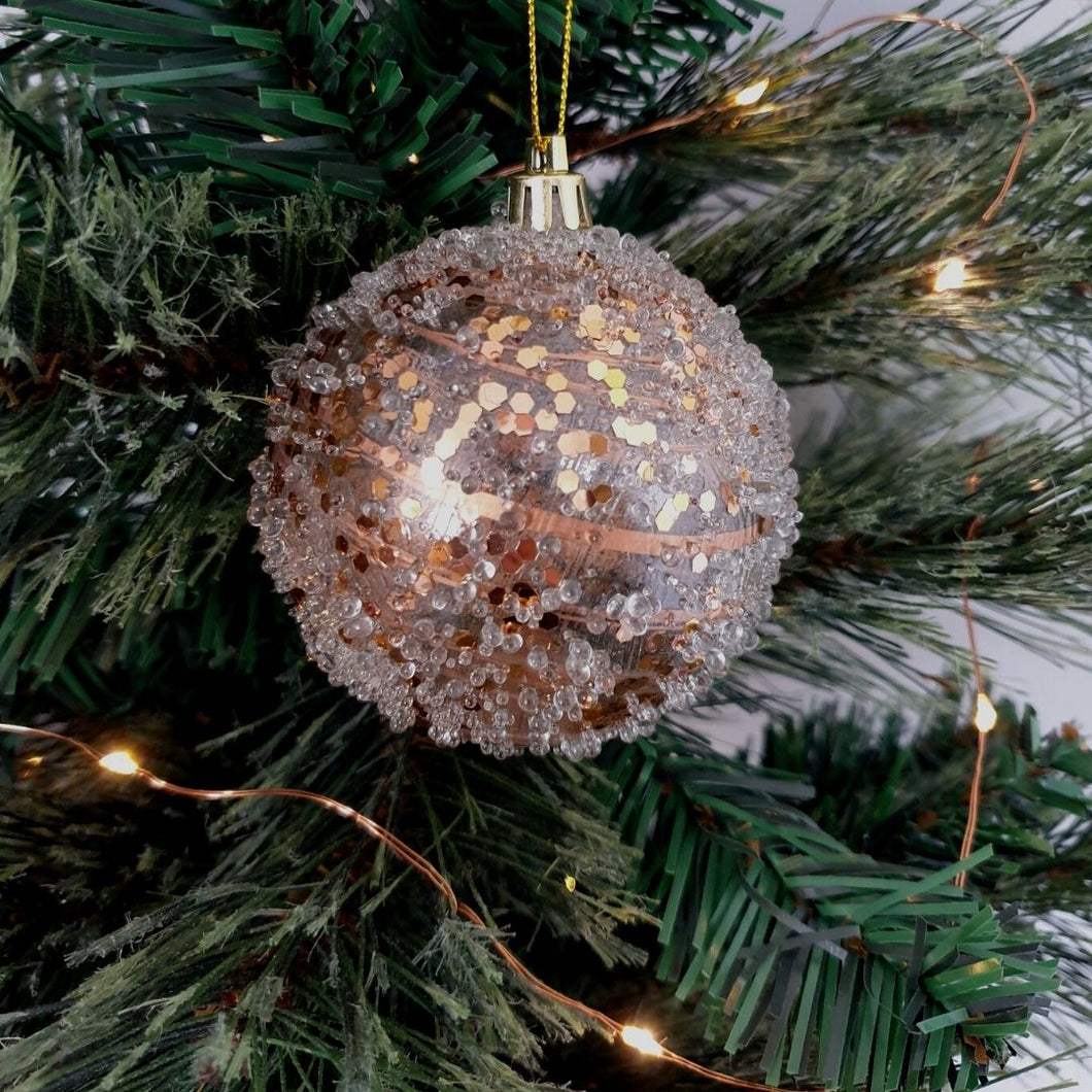 Frosted Copper Glass Bauble