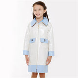 Dahlia Button Coat - Ivory/ Kentucky Blue