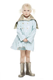 New! Audrey Coat<br>Aqua/Platinum
