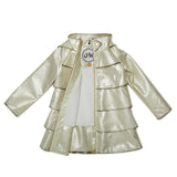Opera Coat<br> Bronzed White with Ivory Fleece Lining