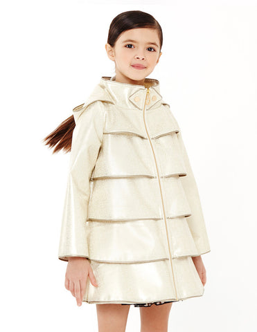 Opera Coat<br>Bronzed White