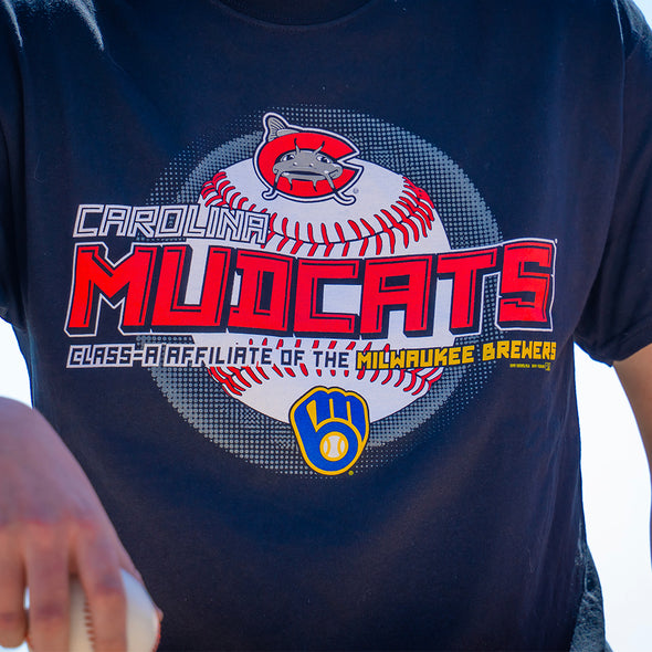 Carolina Mudcats Black Height Affiliate Tee