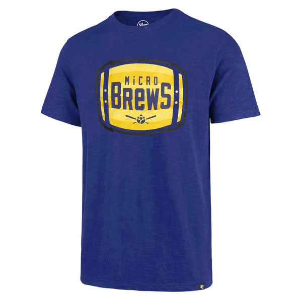 Carolina Mudcats Royal Super Rival Micro Brews Barrel Tee