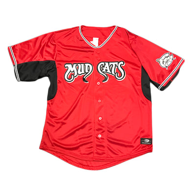 Carolina Mudcats Adult Red Pro Mesh Replica Jersey