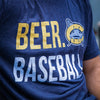 Carolina Mudcats Navy Beer Baseball Tee