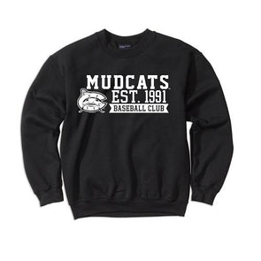 Carolina Mudcats Black Comfort Fleece Crew