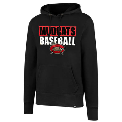 Carolina Mudcats Black Blockout Headline Hood