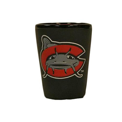 Carolina Mudcats Black Matte Shot Glass