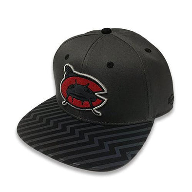 Carolina Mudcats Youth Charcoal Bolt Snapback