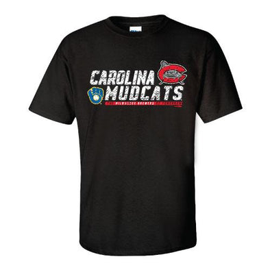 Carolina Mudcats Black Layers Affiliate Tee