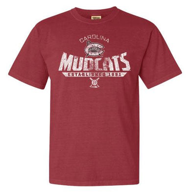 Carolina Mudcats Crimson Malamar Comfort Color Tee