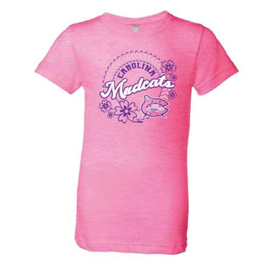 Carolina Mudcats Neon Heather Pink Shayna Tee