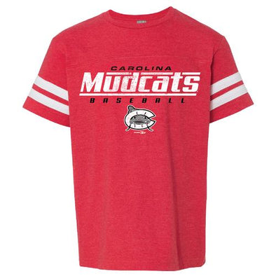 Carolina Mudcats Youth Vintage Red Rails Tee