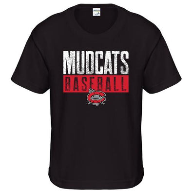 Carolina Mudcats Youth Black Steve Tee