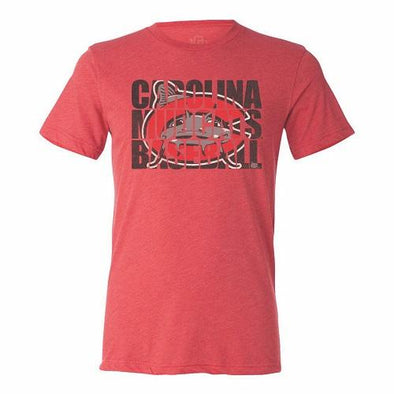 Carolina Mudcats Red Block Logo Tee