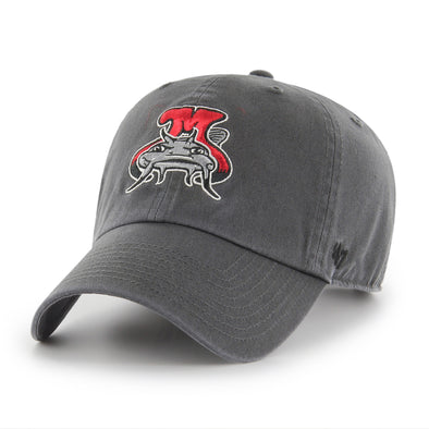 Carolina Mudcats Charcoal Angry Muddy '47 Clean Up