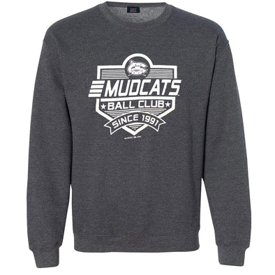 Carolina Mudcats Charcoal Fun Plate Fleece Crew