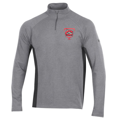 Carolina Mudcats Steel Heather Charged Cotton 1/4 Zip