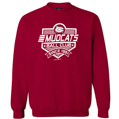 Carolina Mudcats Crimson Fun Plate Fleece Crew