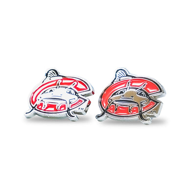 Carolina Mudcats C Logo Earrings