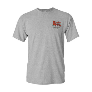 Carolina Mudcats Adult Grey C Logo Tee