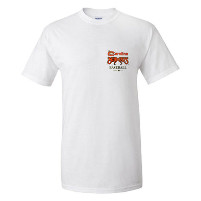 Carolina Mudcats Adult White C Logo Tee