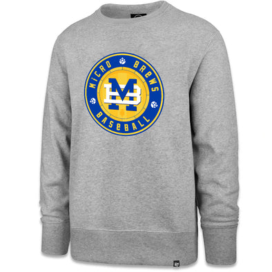 Carolina Mudcats Grey Micro Brews Imprint Crew Sweatshirt