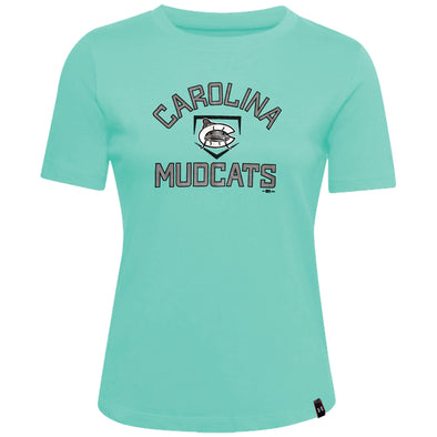 Carolina Mudcats Women's Comet Green Performance Tee