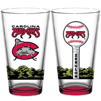 Carolina Mudcats Couples Pint Glass Set