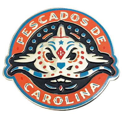 Carolina Mudcats Pescados Circle Lapel Pin