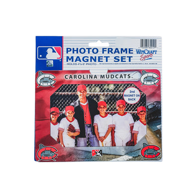 Carolina Mudcats Photo Frame Magnet-set