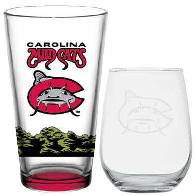 Carolina Mudcats Couples Drinkware Set