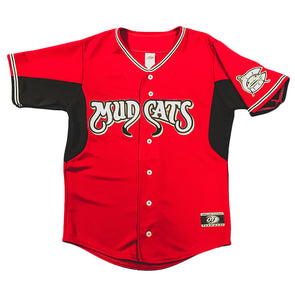 Carolina Mudcats Adult Red Replica Jersey