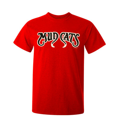 Carolina Mudcats Adult Red Team Tee
