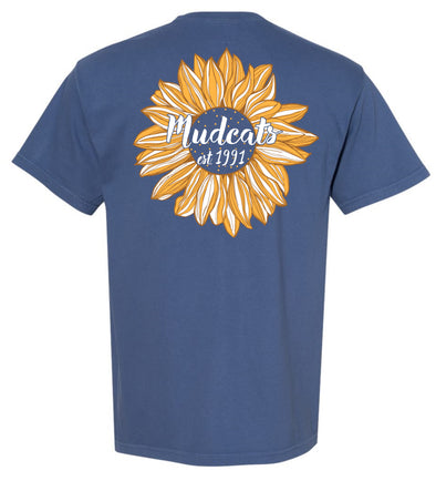 Carolina Mudcats Blue Sunflower Comfort Colors