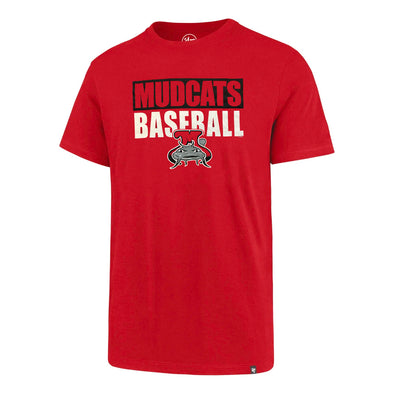 Carolina Mudcats Red Angry Muddy Blockout Tee